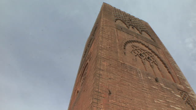 ms la pan unfinished hassan ii minaret, rabat, morocco - minaret stock videos & royalty-free footage