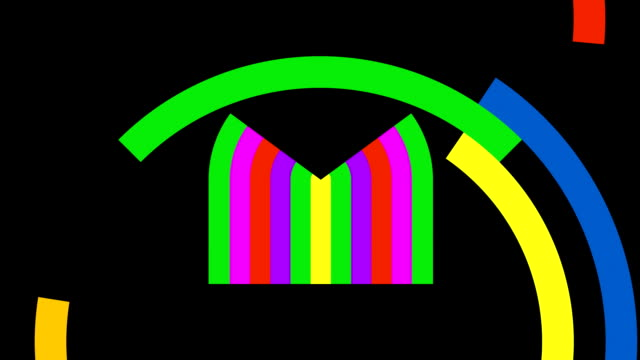 unfolding colorful eye in basic shapes - spokesman stock videos & royalty-free footage