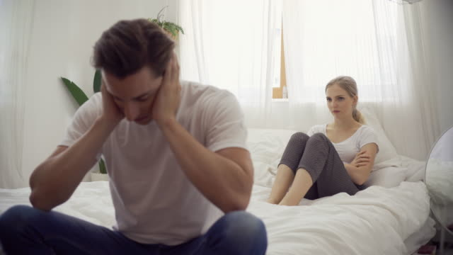 unhappy couple having a relationship problem - arguing stock videos & royalty-free footage