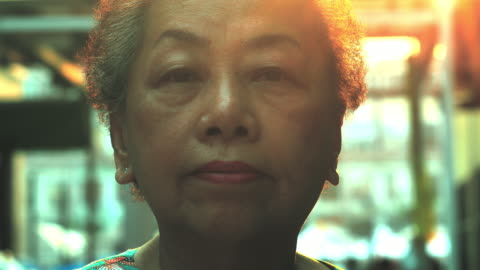 unhappy old woman looking - asia stock videos & royalty-free footage