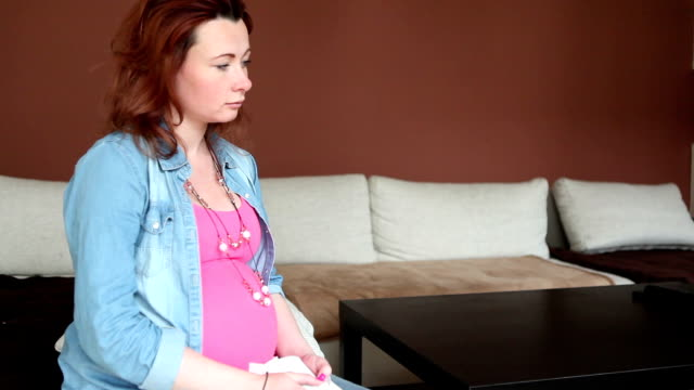 unhappy pregnant pair - babies in a row stock videos & royalty-free footage