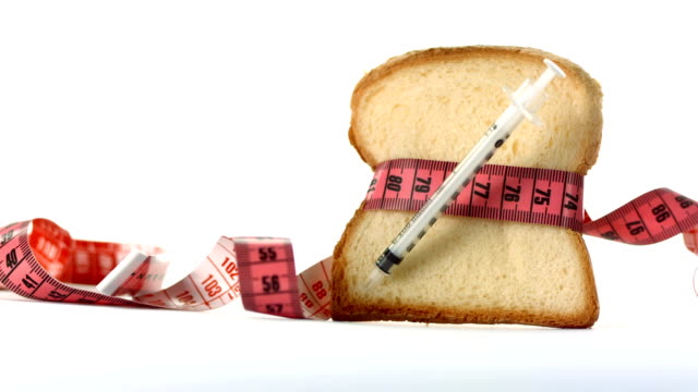 hd: unhealthy eating and diabetes - white bread stock videos and b-roll footage