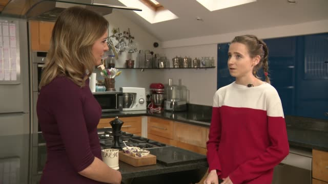 calorie-counting apps dangerous for people with eating disorders; england: evie walker interview sot - körperbewusstsein stock-videos und b-roll-filmmaterial