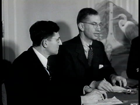 unidentified isthmus meeting people seated at table sign 'foreign policy association speaker brooke claxton kc' ha ws banquet meeting people at... - 1943 stock videos and b-roll footage
