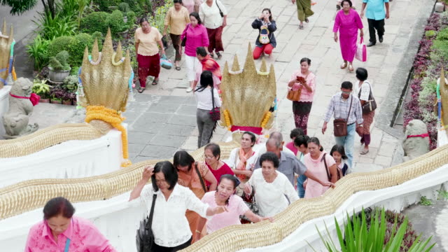 unidentified people ceremony to worship at temple - pagoda stock videos and b-roll footage