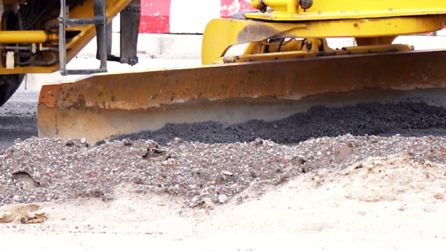 unidentified worker control bulldozer to excavator - bucket stock videos and b-roll footage