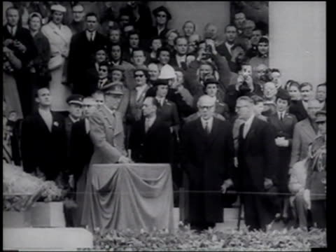 king of belgium opens world fair in brussels - world's fair stock videos and b-roll footage
