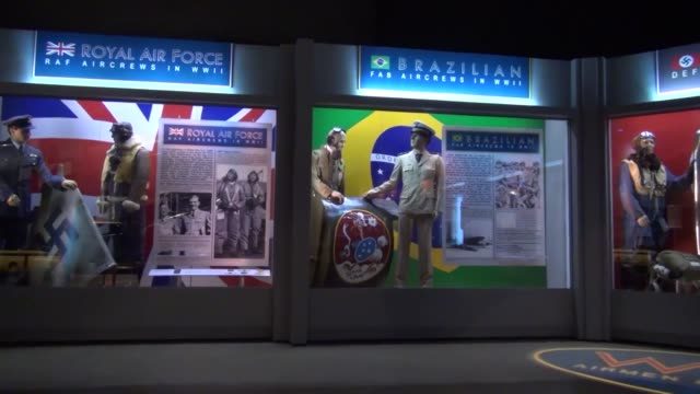 Uniforms on display at the National Museum of the US Air Force