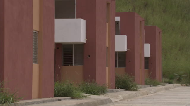 WS ZO Uninhabited block of new homes in La Suiza, newly-constructed socialist city / Caracas, Miranda, Venezuela