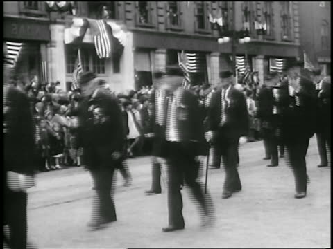 union army civil war veterans waving marching in parade / portland maine / newsreel - union army stock videos & royalty-free footage