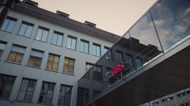 "union bank of switzerland (""ubs"") grünenhof zürich - logo stock videos & royalty-free footage"