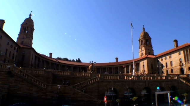 vídeos de stock, filmes e b-roll de w/s union buildings/ pretoria/ south africa - parliament building