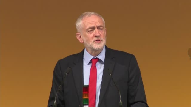 jeremy corbyn speech england east sussex brighton int jeremy corbyn mp speech sot corbyn being given gift - east sussex stock videos & royalty-free footage