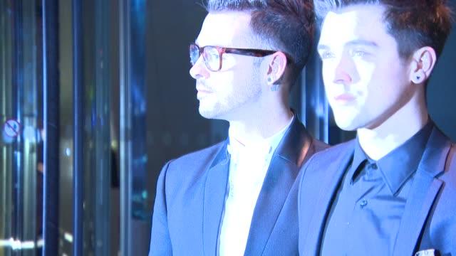 union j at mondrian hotel - launch party at mondrian hotel on october 09, 2014 in london, england. - モンドリアンホテル点の映像素材/bロール