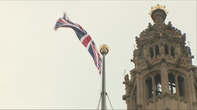 union jack flag - brittiska flaggan bildbanksvideor och videomaterial från bakom kulisserna