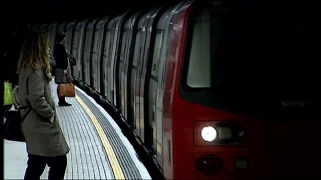 union leaders say london's new 24-hour tube will run at a loss for 20 years; r28111103 / england: london: tottenham court road station: int... - tottenham court road stock videos & royalty-free footage