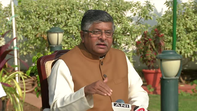 union minister and bjp leader ravi shankar prasad's byte on agustawestland case. criticizing the congress, he said that there's no defense deal... - byte stock videos & royalty-free footage
