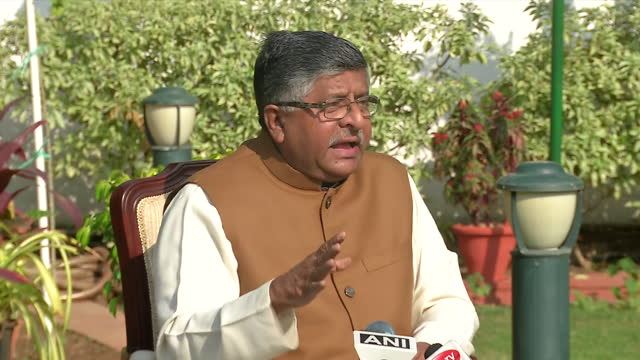 union minister and bjp leader ravi shankar prasad's byte related to agustawestland case. he said that whenever a defense deal comes up in a... - byte stock videos & royalty-free footage