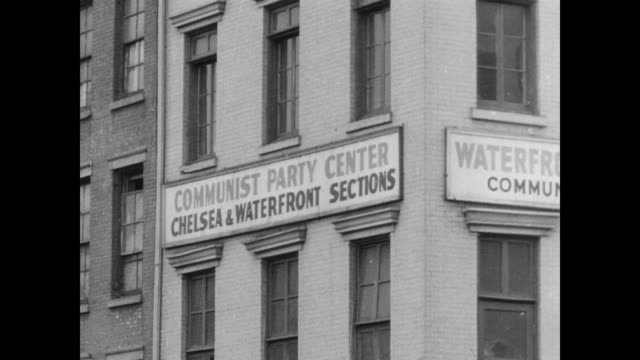 Union Square and 16th Street offices of Freiheit the Jewish Daily Newspaper / Communist Party Center Waterfront Sections of Chelsea neighborhood /...