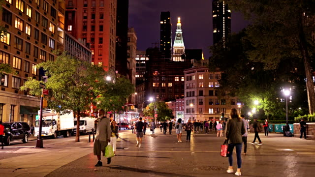 union square. manhattan skyline - union square new york city stock videos and b-roll footage