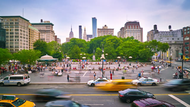 union square park - union square new york city stock videos and b-roll footage