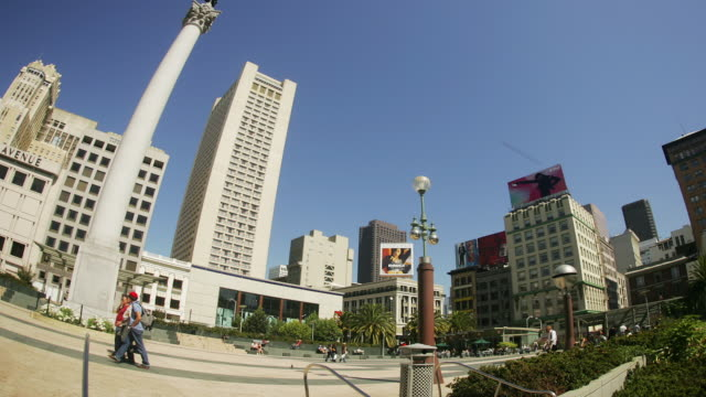 T/L, LA, MS, PAN, FISH EYE, Union Square, San Francisco, California, USA