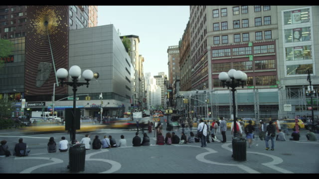 union square south traffic - union square new york city stock videos and b-roll footage