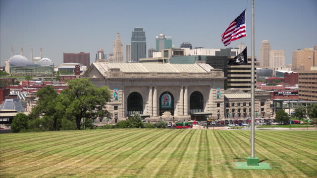 Union Station and Kansas City, Missouri cityscape skyline
