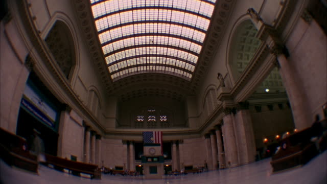 T/L, WS, FISH EYE, Union Station interior, Chicago, Illinois, USA