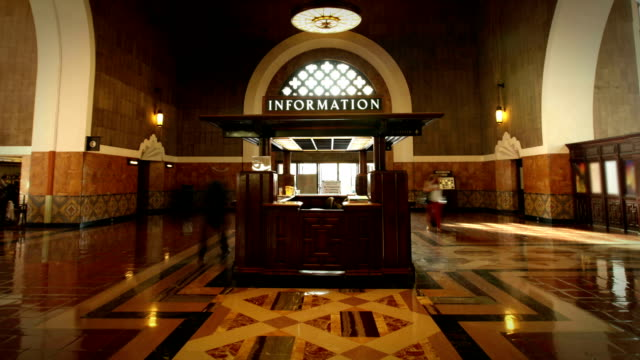 union station, los angeles - union station los angeles stock videos & royalty-free footage