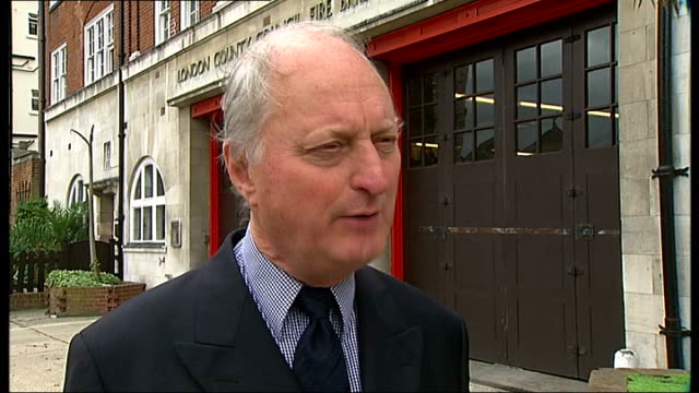unions to ballot over new contracts london richard tracey interview sot talks of reasons for wanting to change working conditions of firefighters - emergency planning stock videos and b-roll footage