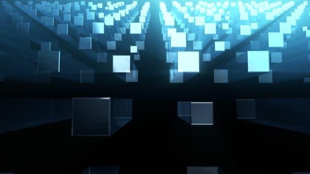 vídeos de stock e filmes b-roll de 4k unique cubic background - retângulo