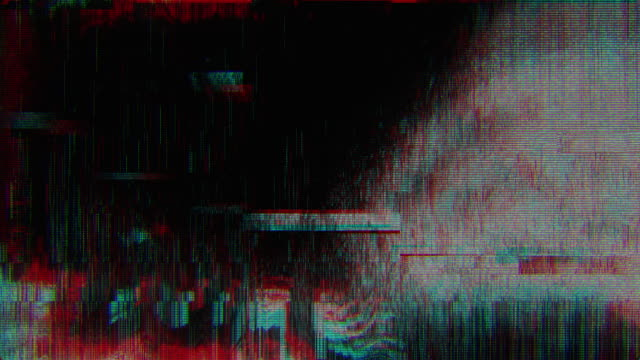 vídeos de stock e filmes b-roll de unique design abstract digital animation pixel noise glitch error video damage - vídeo