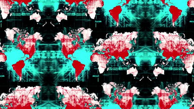 vídeos de stock e filmes b-roll de unique world map animation - mapa múndi