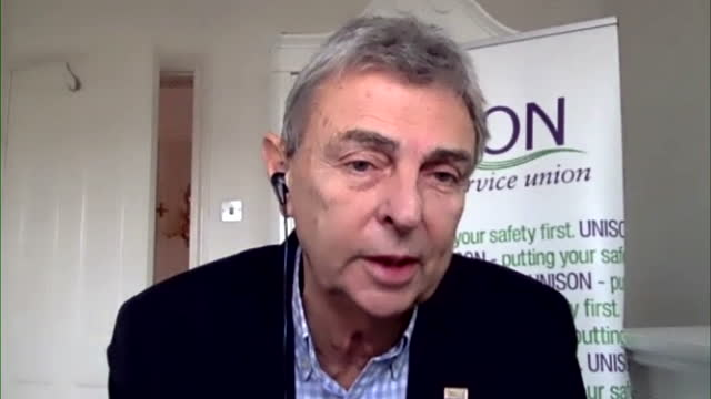 """unison general secretary dave prentis saying a public sector pay freeze in the middle of the coronavirus pandemic would be """"a kick in the teeth"""" - trade union stock videos & royalty-free footage"""