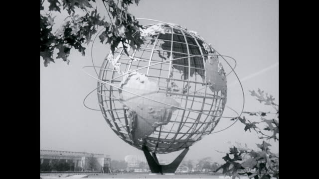 vídeos de stock, filmes e b-roll de ws unisphere at flushing meadows-corona park / new york city, united states - flushing meadows corona park
