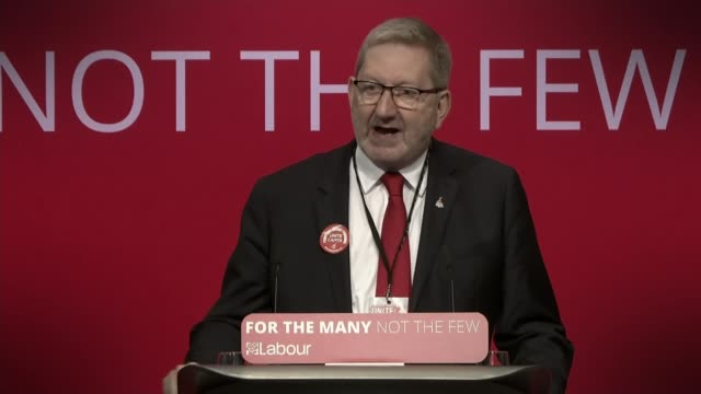 Unite boss Len McCluskey denies rumours that he is to resign over election allegations DATE Len McCluskey speech at Labour Party conference SOT
