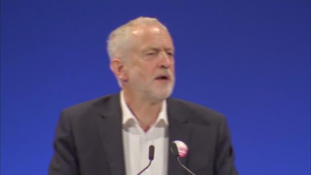 vídeos y material grabado en eventos de stock de corbyn speech england east sussex brighton int jeremy corbyn mp speech sot - east sussex