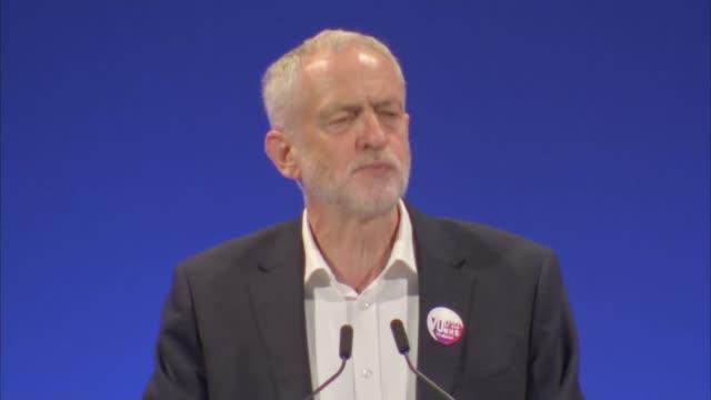 corbyn speech england east sussex brighton int jeremy corbyn mp speech sot - east sussex stock videos & royalty-free footage