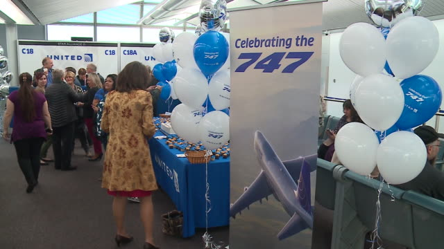 wgn united airlines employees said goodbye on oct 25 to the boeing 747 airplane more than 200 people boarded the aircraft at o'hare international... - airplane part stock videos and b-roll footage