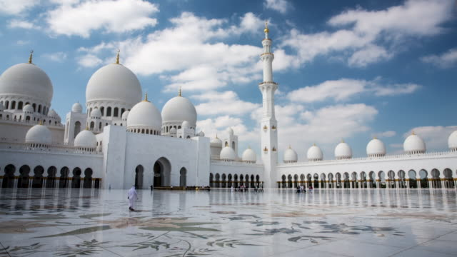 united arab emirates, abu dhabi, sheikh zayed grand mosque - grand mosque stock videos and b-roll footage