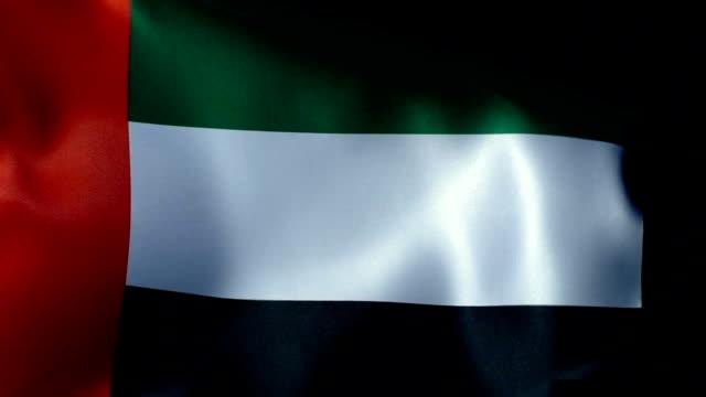 united arab emirates flag flapping - basra stock videos & royalty-free footage
