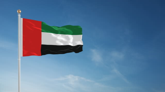 4K United Arab Emirates Flag - Loopable