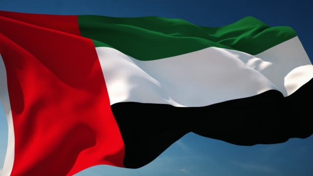 4k united arab emirates flag - loopable - flag stock videos & royalty-free footage