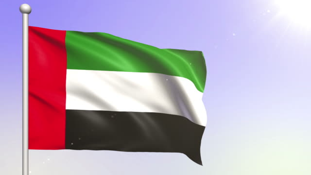 United Arab Emirates Flag (Loopable)