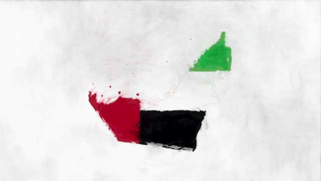 united arab emirates map flag - national landmark stock videos & royalty-free footage