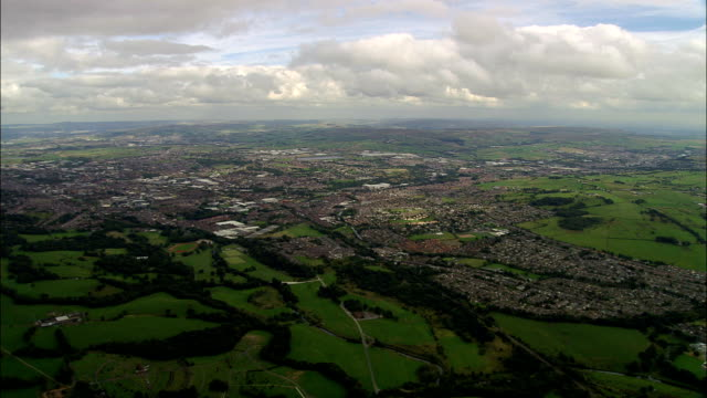 united kingdom - blackburn  - aerial view - lancashire stock videos & royalty-free footage