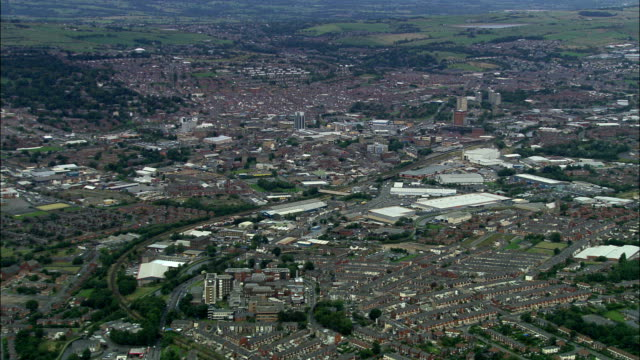 united kingdom - blackburn rovers fc  - aerial view - lancashire stock videos & royalty-free footage