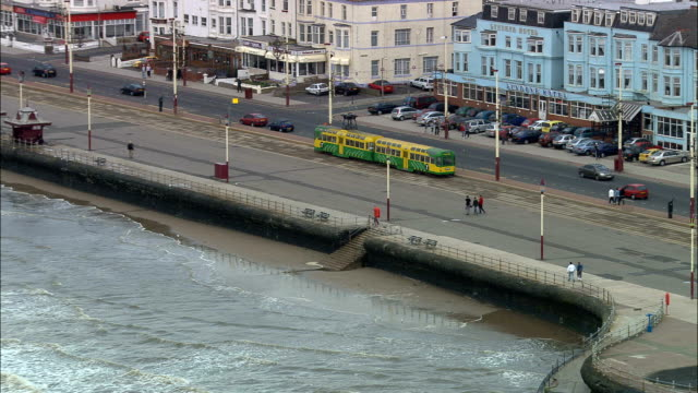 united kingdom - blackpool  - aerial view - promenade stock videos & royalty-free footage