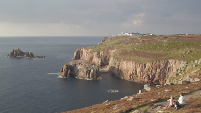 united kingdom, england, cornwall, land's end peninsula - coastline stock videos & royalty-free footage